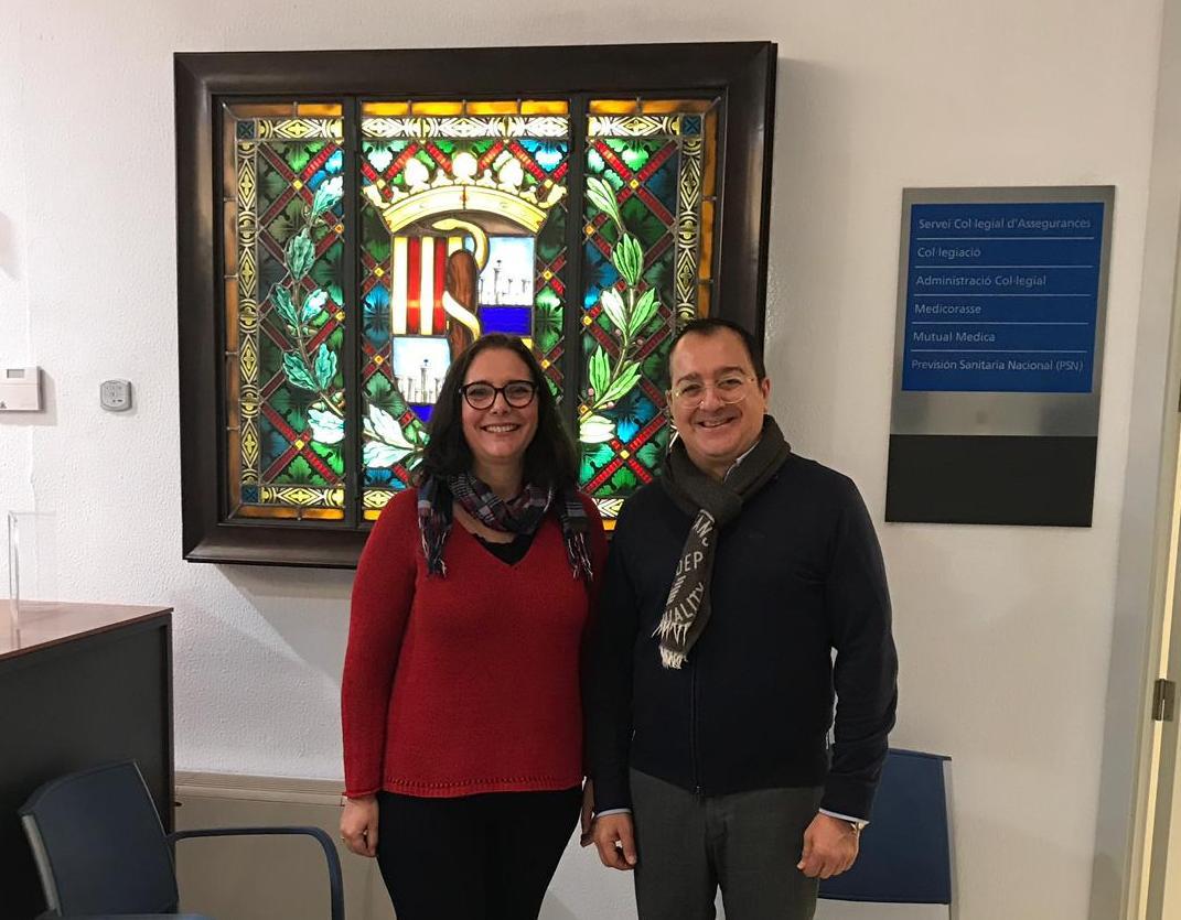 Carlos Fornes se reúne con la Presidenta del Colegio de Médicos de las Islas Baleares