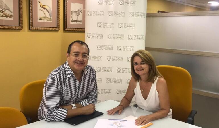 Carlos Fornes se reúne con la presidenta del Colegio de Veterinarios de Valencia