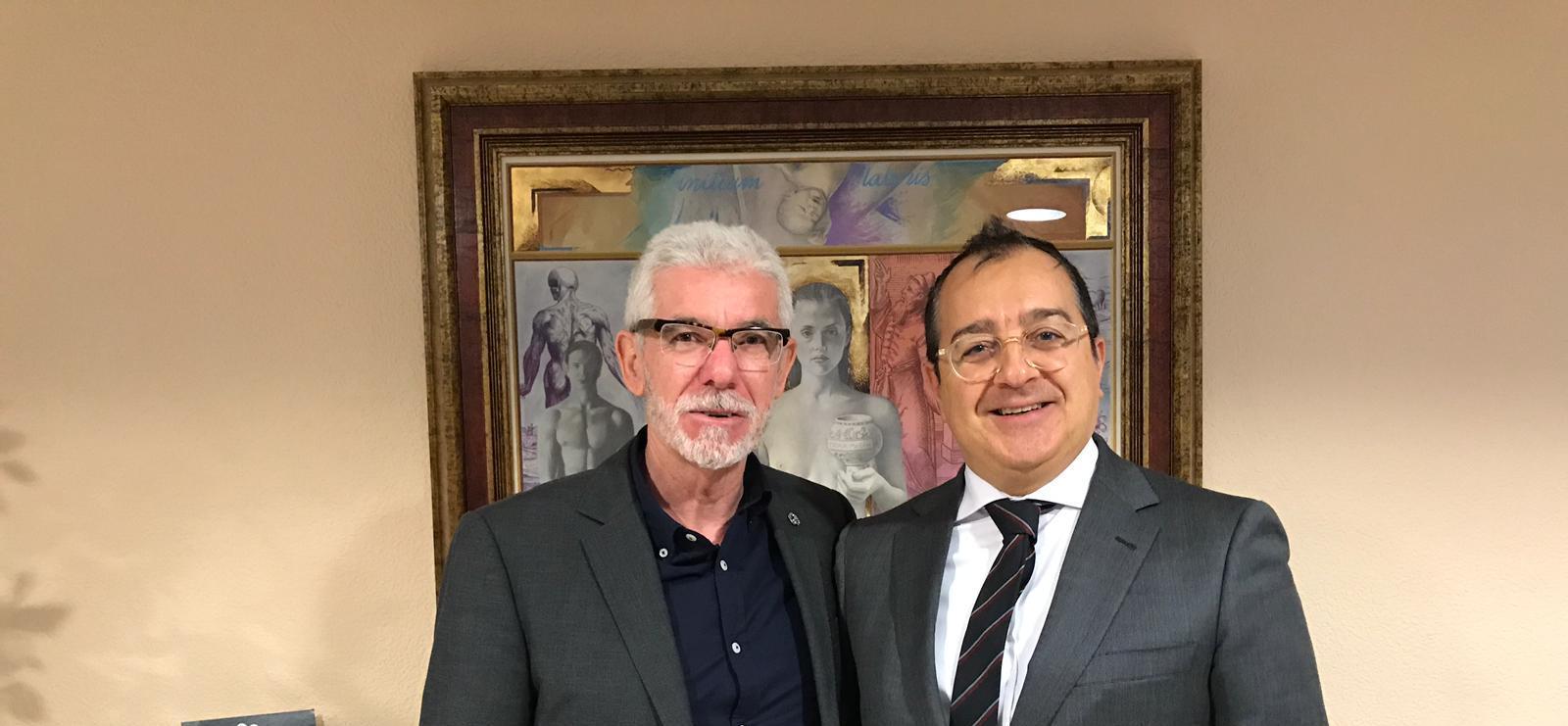 Carlos Fornes se reúne con el presidente del Colegio Oficial de Médicos de Castellón