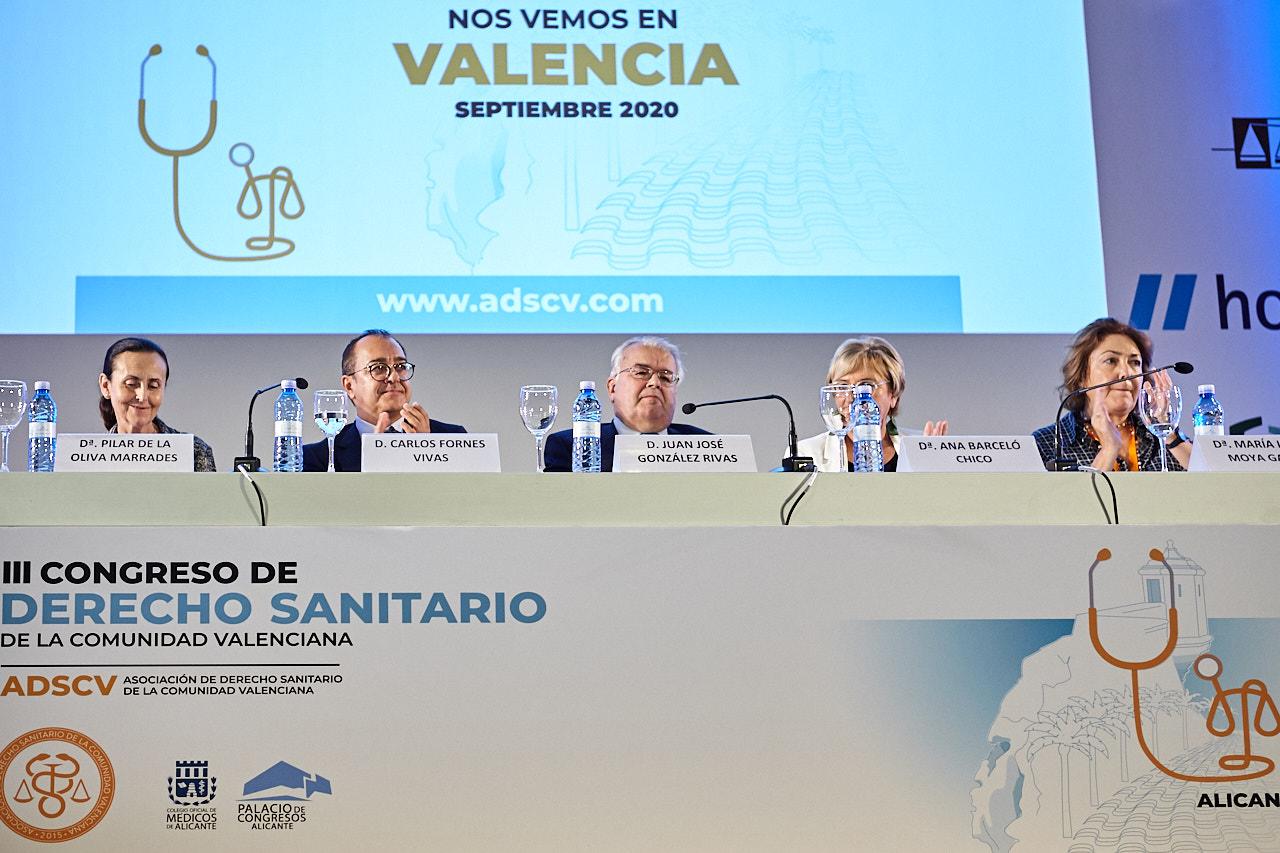 ALICANTE PLAZA: El presidente del Constitucional clausura el III Congreso de la Asociación de Derecho Sanitario