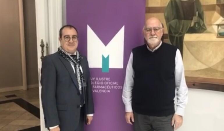 Carlos Fornes se reúne con el presidente del Colegio de Farmacéuticos de Valencia