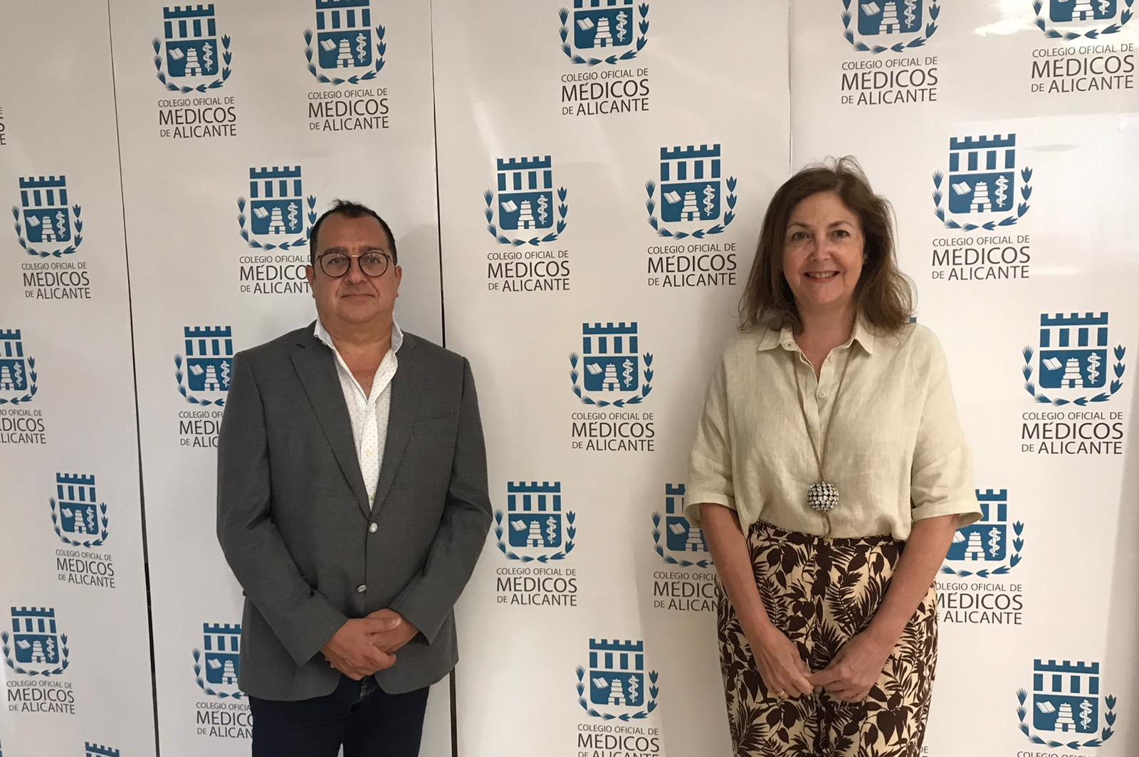 Carlos Fornes se reúne con la presidenta del Colegio de Médicos de Alicante